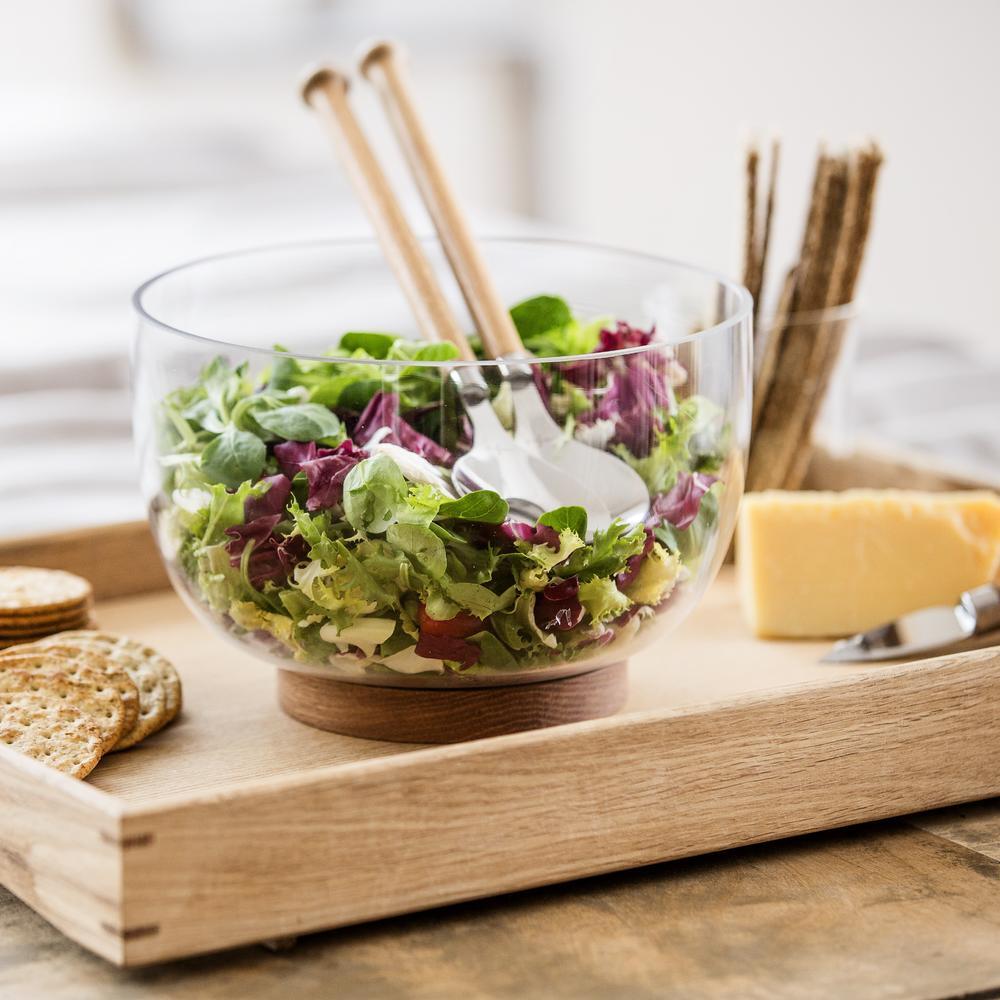 Oak and Steel Salad Utensils | Set of Two | Sagaform