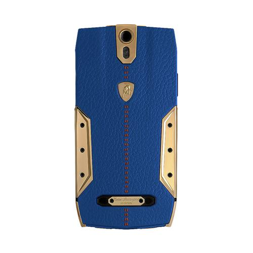 88 Tauri Smartphone | Blue Leather | Gold