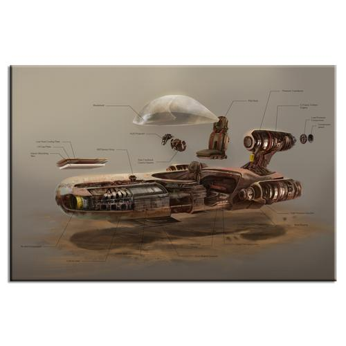 Landspeeder Exploded View