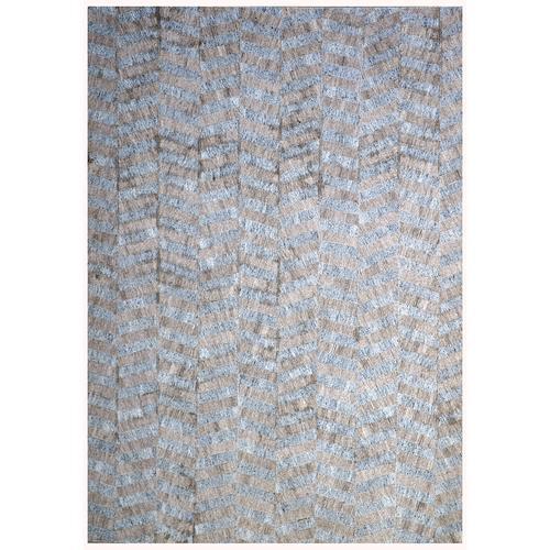 Handmade Jacquard Gray | Brown Rug | Leather Rugs