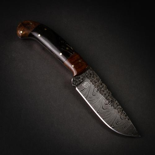 Witches Blade Handmade Damascus Steel Hammered Knife