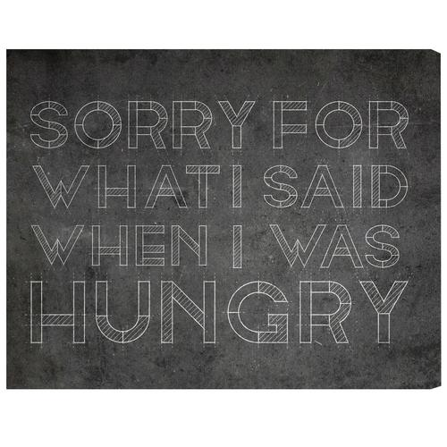'Hungry' Canvas Art