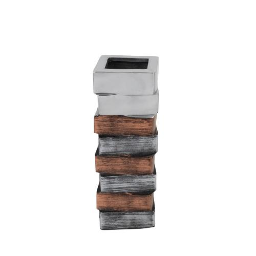 Tri- Tone Striped Cuboid