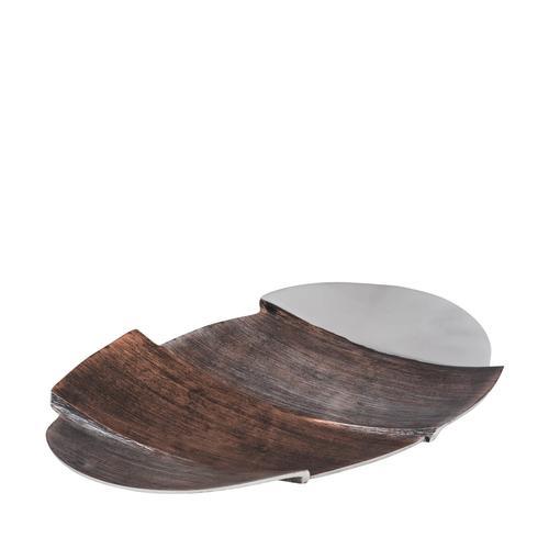 Tri-Tone Oval Aluminum Plate