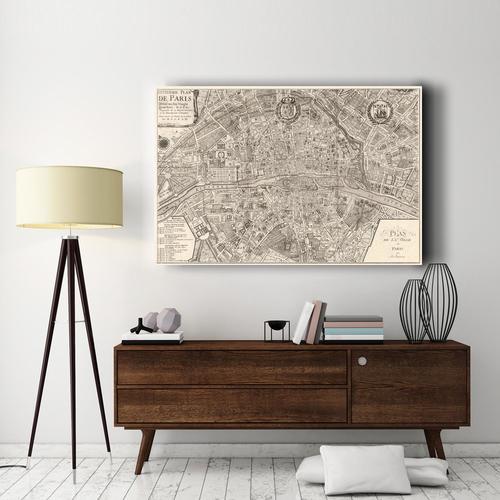 Plan de la Ville de Paris, 1 | Canvas