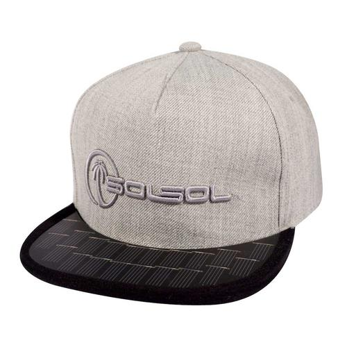 The Solar Charger Hat | Heather Gray/Black