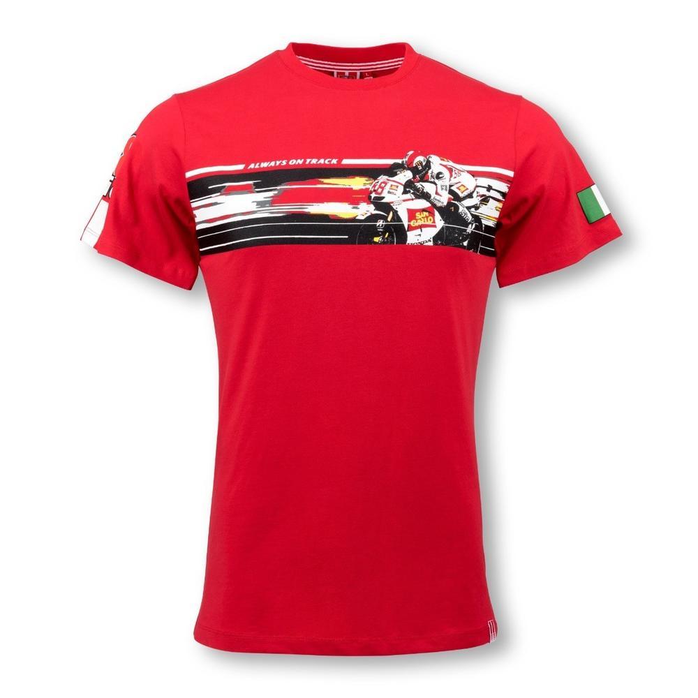Marco Simoncelli Action T-shirt   Moto GP Apparel