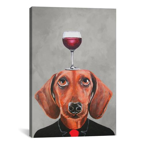 Dachshund With Wineglass