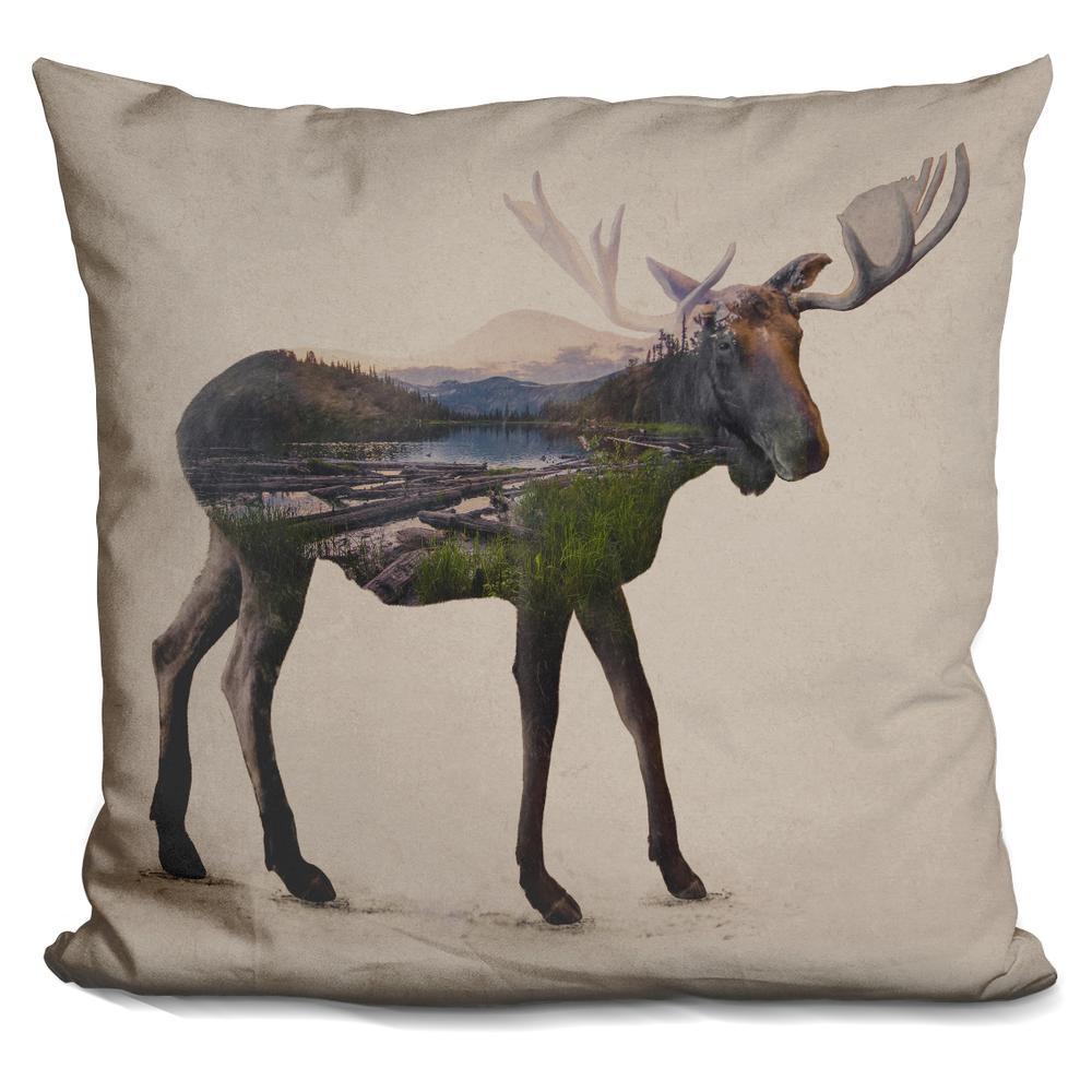 Modern Moose Pillows : Davies Babies The Alaskan Bull Moose Throw Pillow