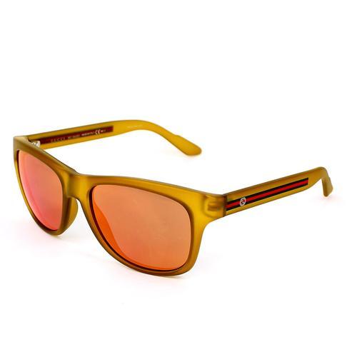 Yellow Frame Sunglasses with Orange Flash Mirror lenses