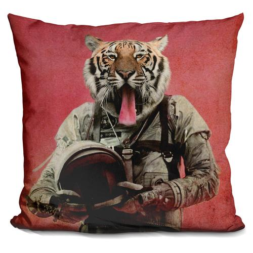 Durro Art 'Space tiger' Throw Pillow