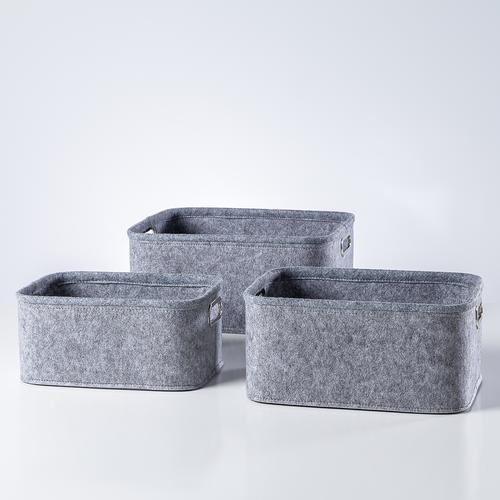 Urban Felt Storage Totes Set of 3 | Light Grey