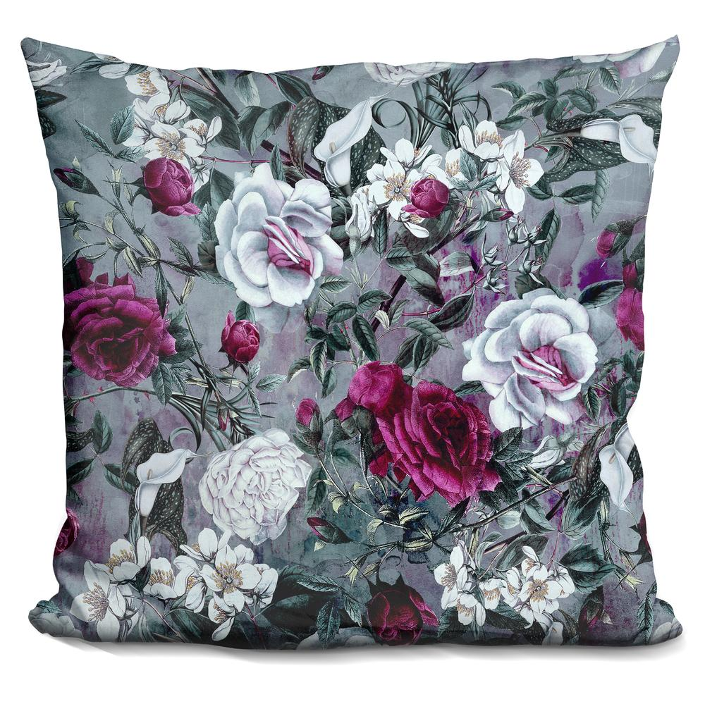 Modern Botanical Pillow : Riza Peker Botanical Flowers Throw Pillow