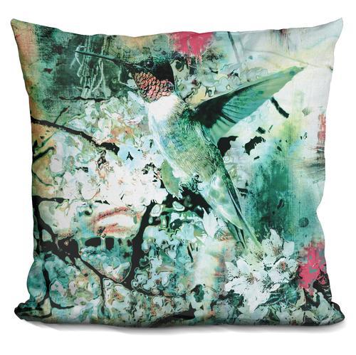 Riza Peker 'Hummingbird' Throw Pillow