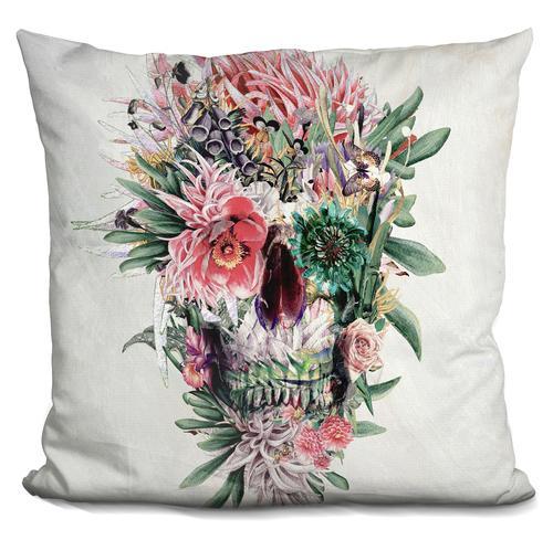 Riza Peker 'Momento Mori Rev' Throw Pillow