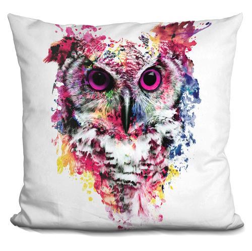 Riza Peker 'Owl' Throw Pillow