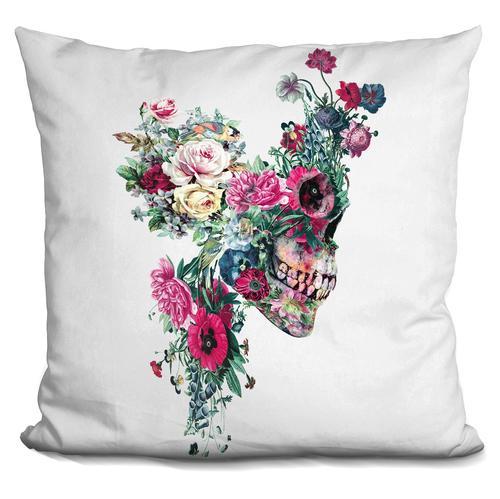 Riza Peker 'Skull VII' Throw Pillow