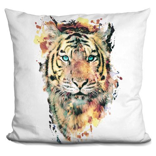 Riza Peker 'Tiger III' Throw Pillow