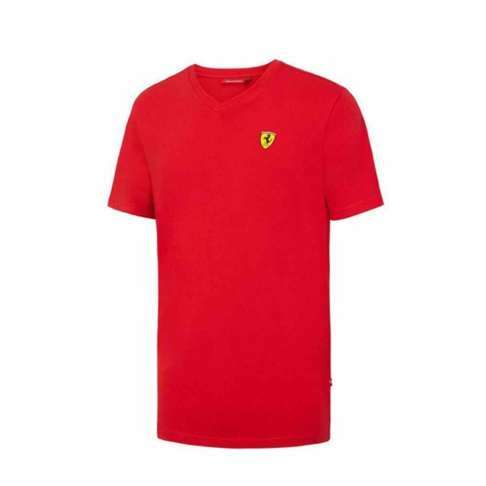Scuderia Ferrari V-Neck T-Shirt Mens | Motorstore