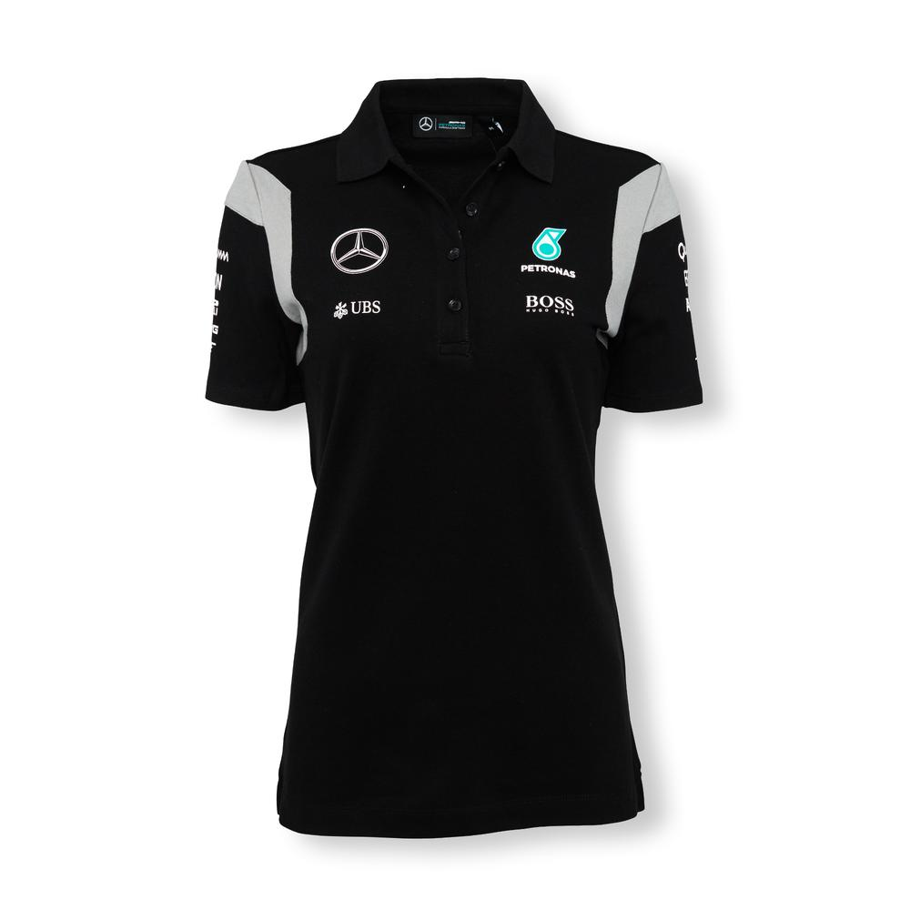 mercedes amg petronas polo shirt womens 2016 motorstore. Black Bedroom Furniture Sets. Home Design Ideas