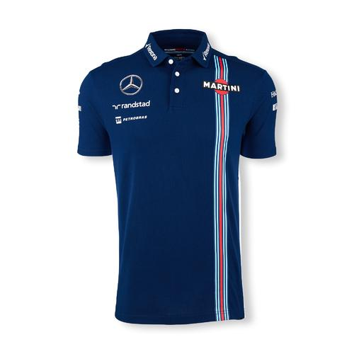 WILLIAMS MARTINI RACING PIQUE POLO SHIRT  Motorstore F1 Team