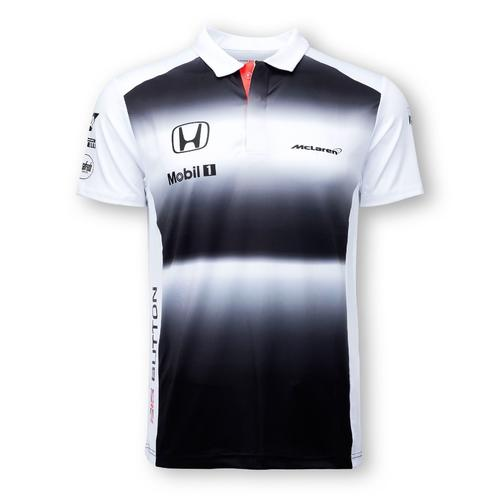 MCLAREN HONDA JENSON BUTTON POLO SHIRT MENS 2016 REPLICA