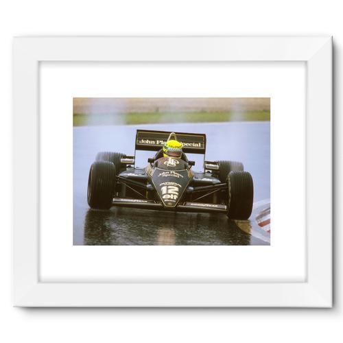 Ayrton Senna, Lotus 97T Renault, 1st position | White